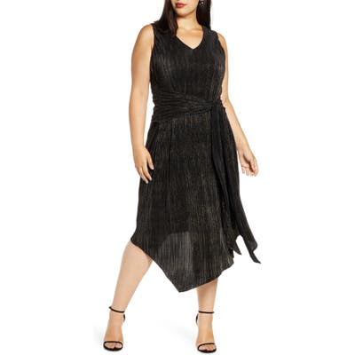 Plus Size Rachel Rachel Roy Alex Asymmetrical Cocktail Dress, Black