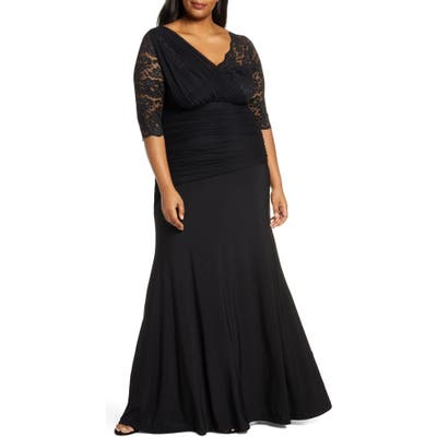 Plus Size Kiyonna Soiree Evening Gown, Black