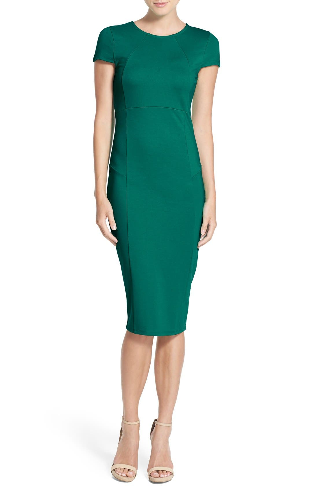 ,                             Ward Seamed Pencil Dress,                             Main thumbnail 35, color,                             302