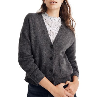 Madewell Arbour Cardigan Sweater, Grey