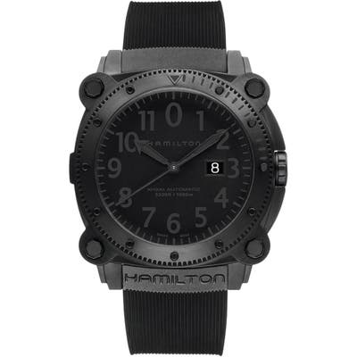 Hamilton Khaki Belowzero Automatic Rubber Strap Watch, 4m