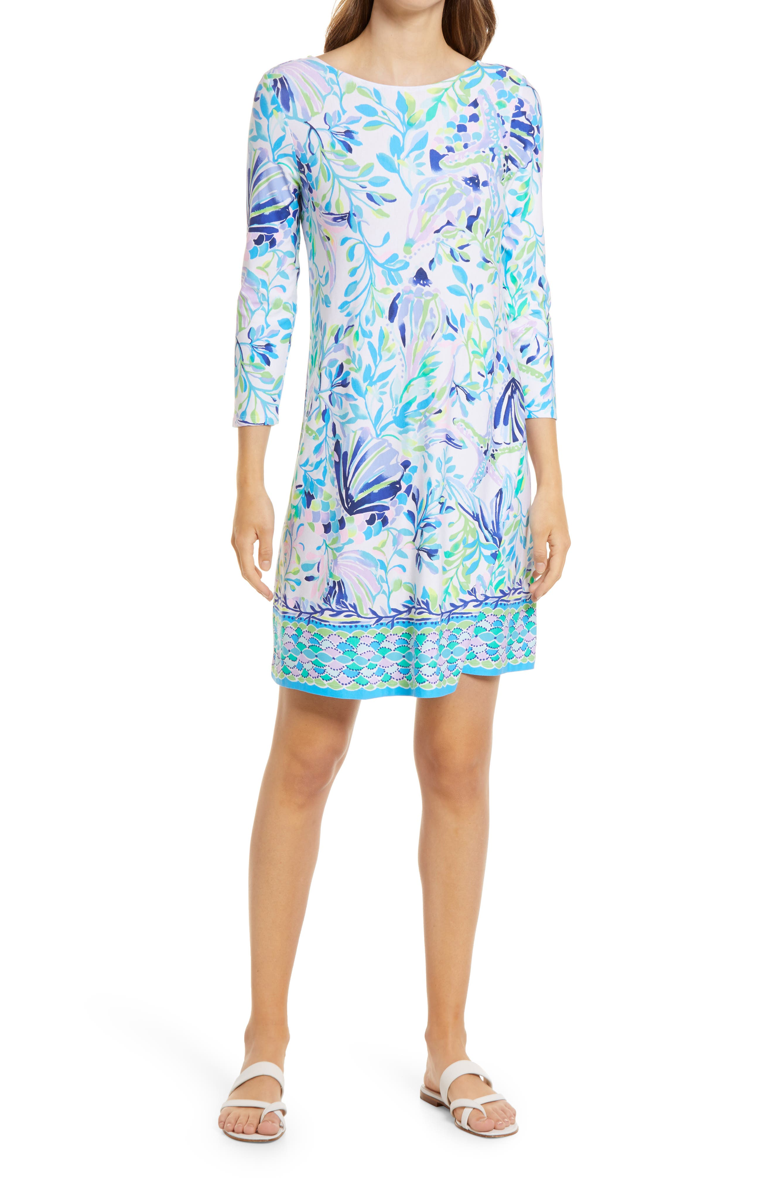 Women's Lilly Pulitzer Ophelia Floral Long Sleeve Knit Dress
