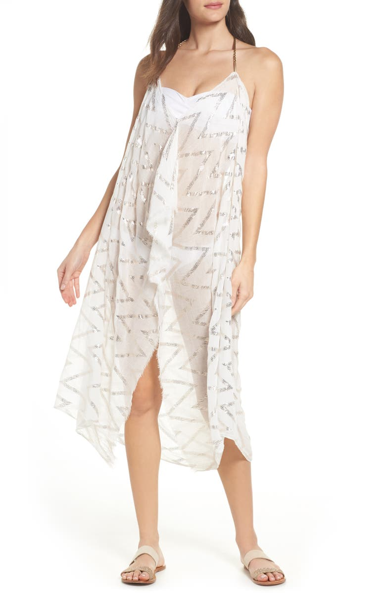 POOL TO PARTY Beach to Street Cover-Up Maxi Dress, Main, color, 100