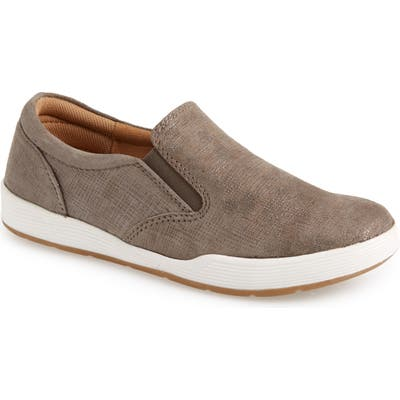Comfortiva Linette Suede Slip-On Sneaker- Grey