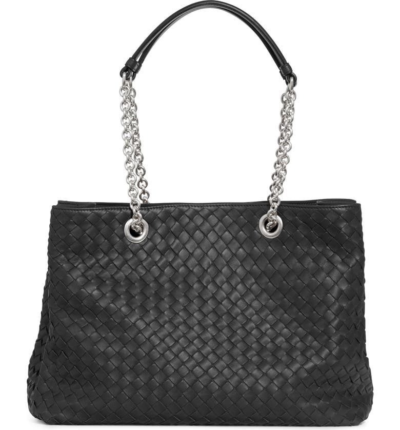 BOTTEGA VENETA Small Intrecciato Leather Hobo, Main, color, NERO