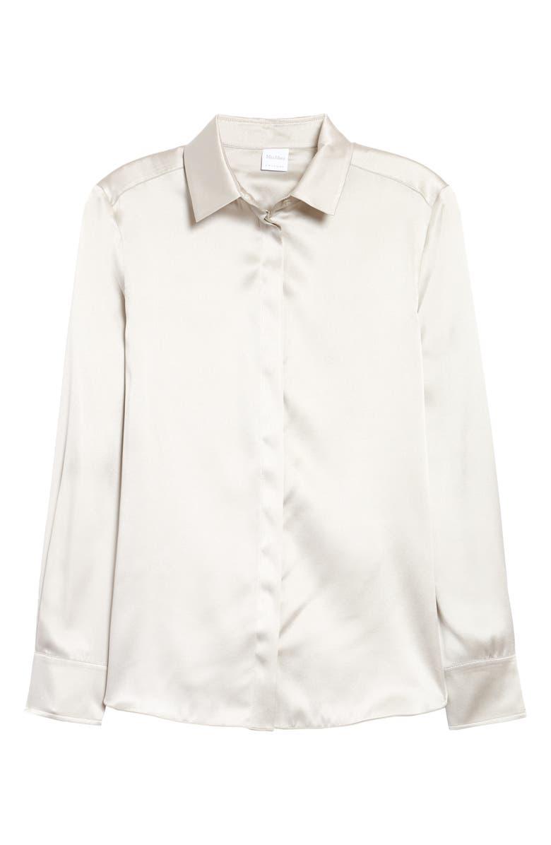 MAX MARA LEISURE Key Stretch Silk Blouse, Main, color, 900