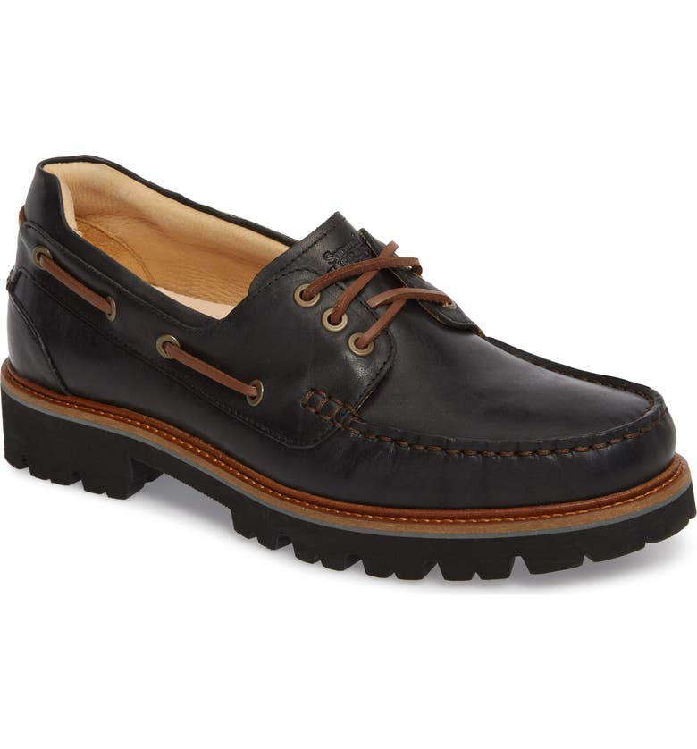 SAMUEL HUBBARD Camplight Water Resistant Boat Shoe, Main, color, 001