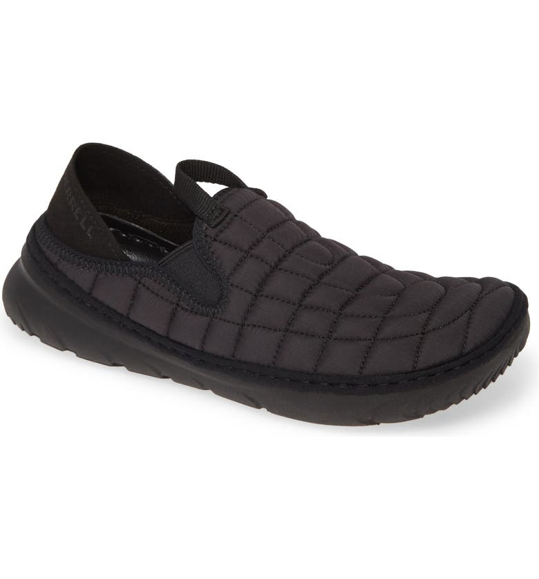 MERRELL Hut Quilted Moc Sneaker, Main, color, TRIPLE BLACK FABRIC