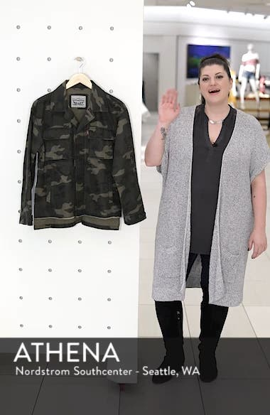 Oversize Cotton Canvas Camo Shirt Jacket, sales video thumbnail