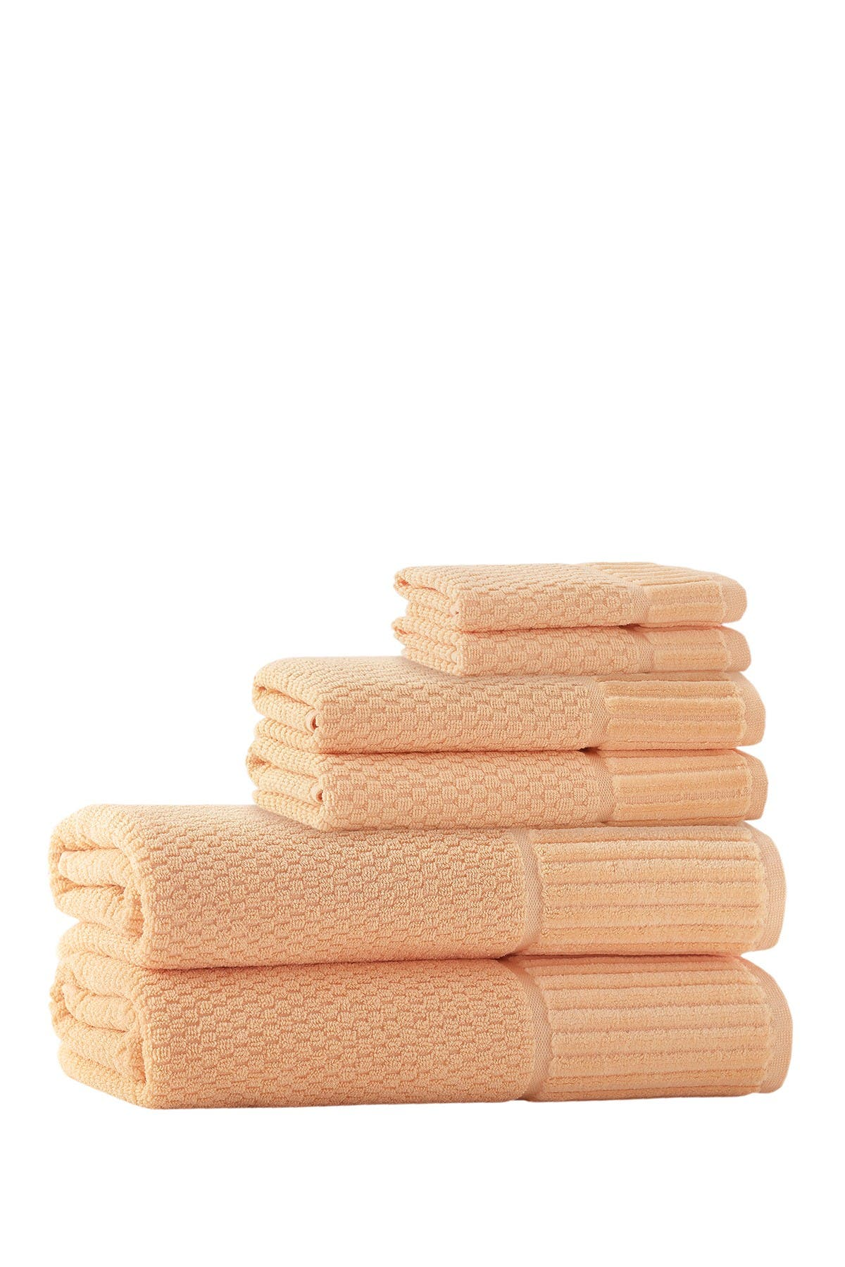 Image of ENCHANTE HOME Timaru Turkish Cotton 6-Piece Towel Set - Somon
