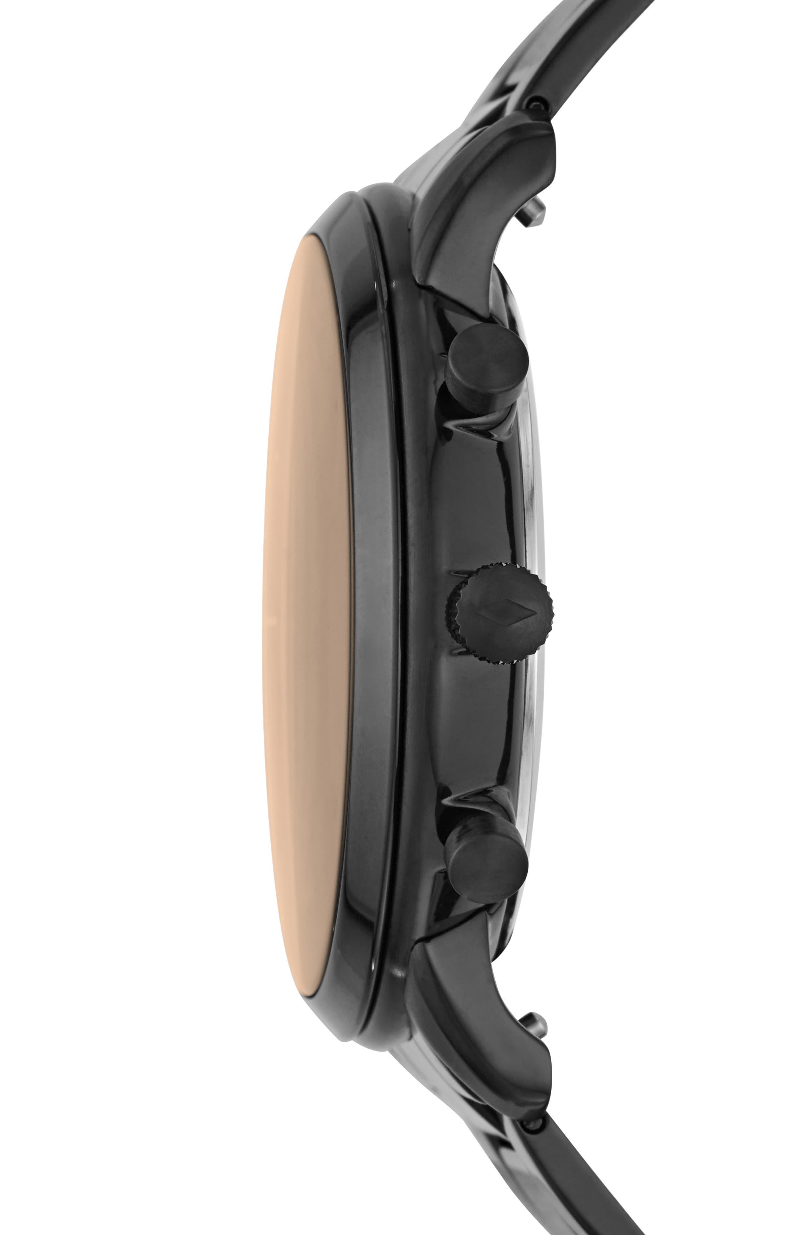 ,                             Neutra Chronograph Bracelet Watch, 44mm,                             Alternate thumbnail 2, color,                             BLACK/ BROWN