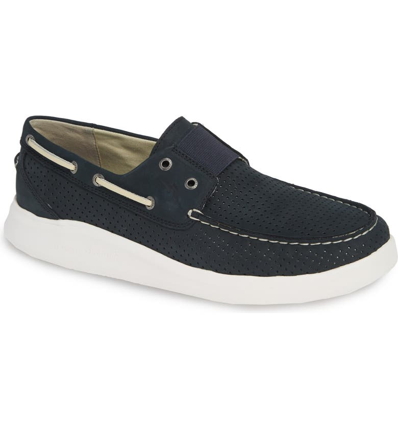 TOMMY BAHAMA Relaxology<sup>®</sup> Aeonian Boat Shoe, Main, color, NAVY NUBUCK