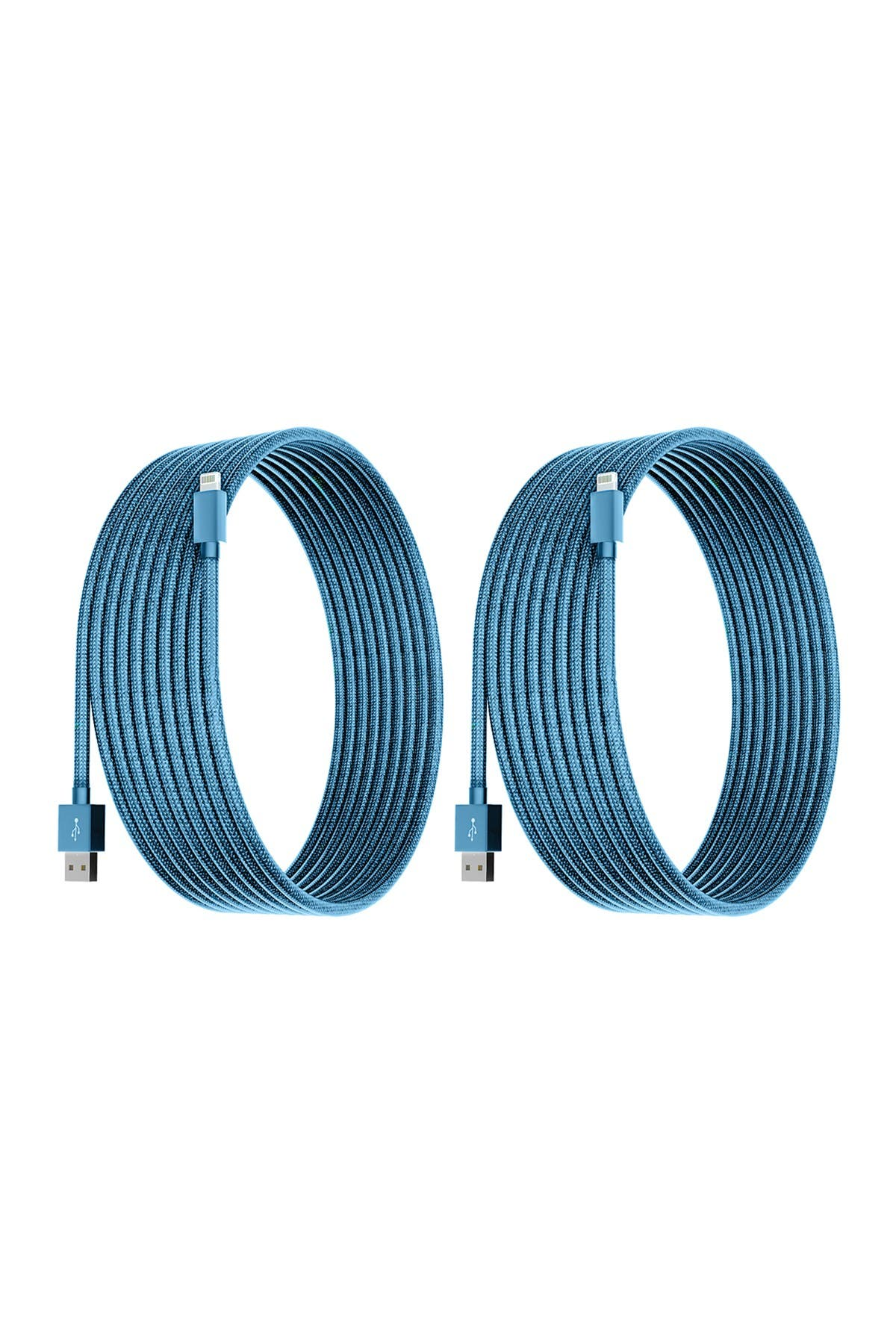 Image of POSH TECH Sky Blue 10 Ft Apple Certified Charge N Sync Lightning Cables - Pack of 2