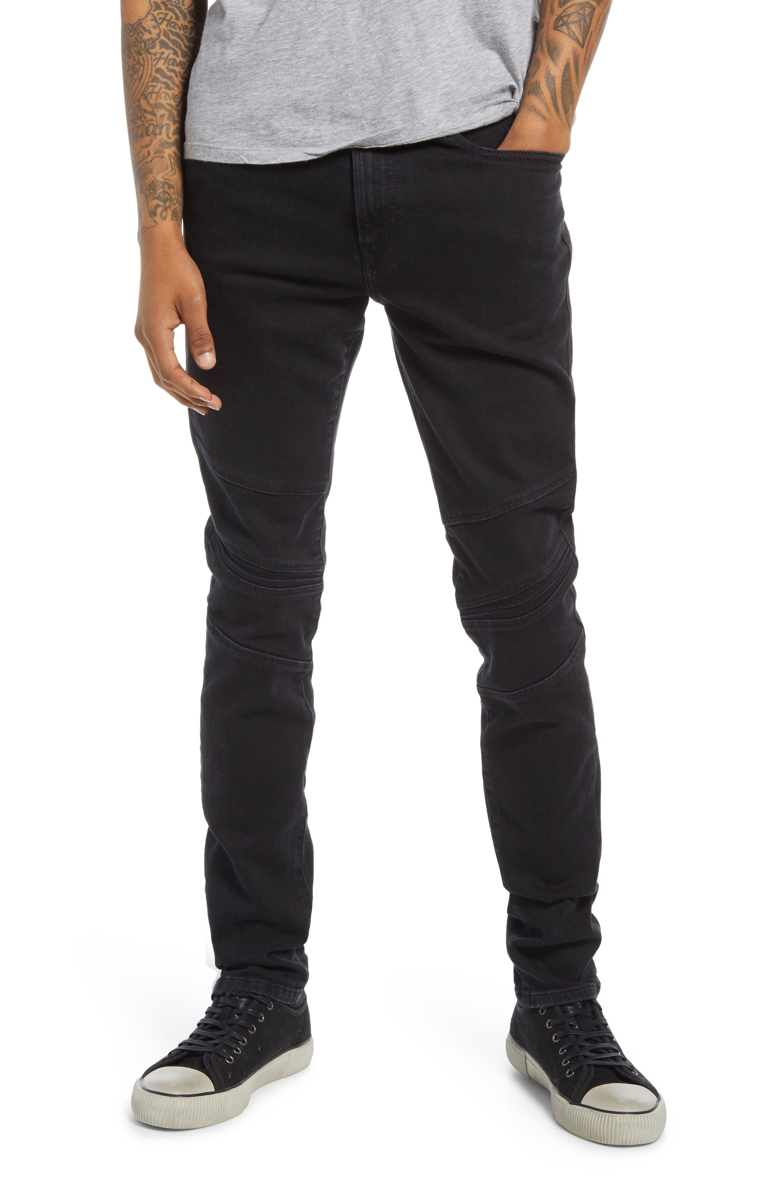 Men's Diesel D-Amny Moto Skinny Jeans