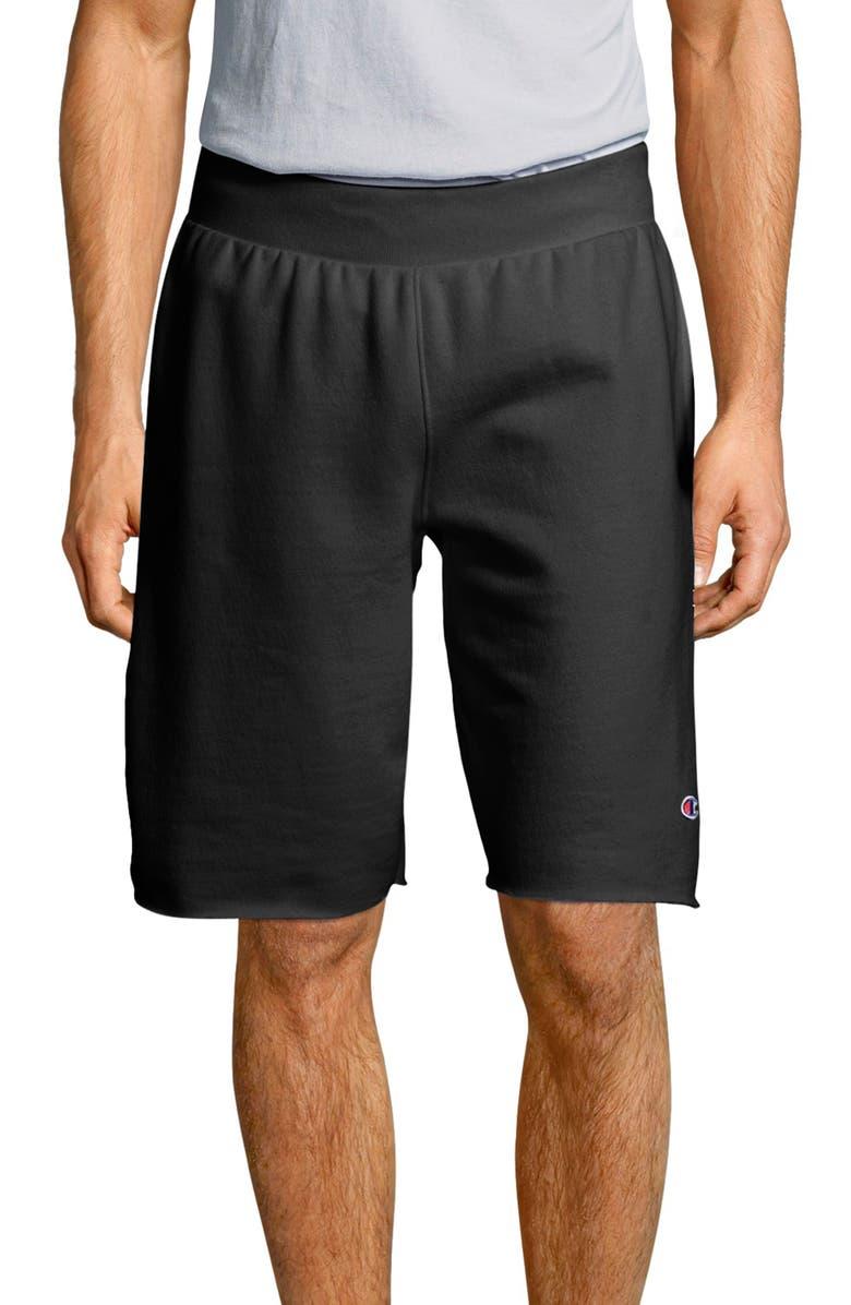 CHAMPION Reverse Weave Shorts, Main, color, BLACK