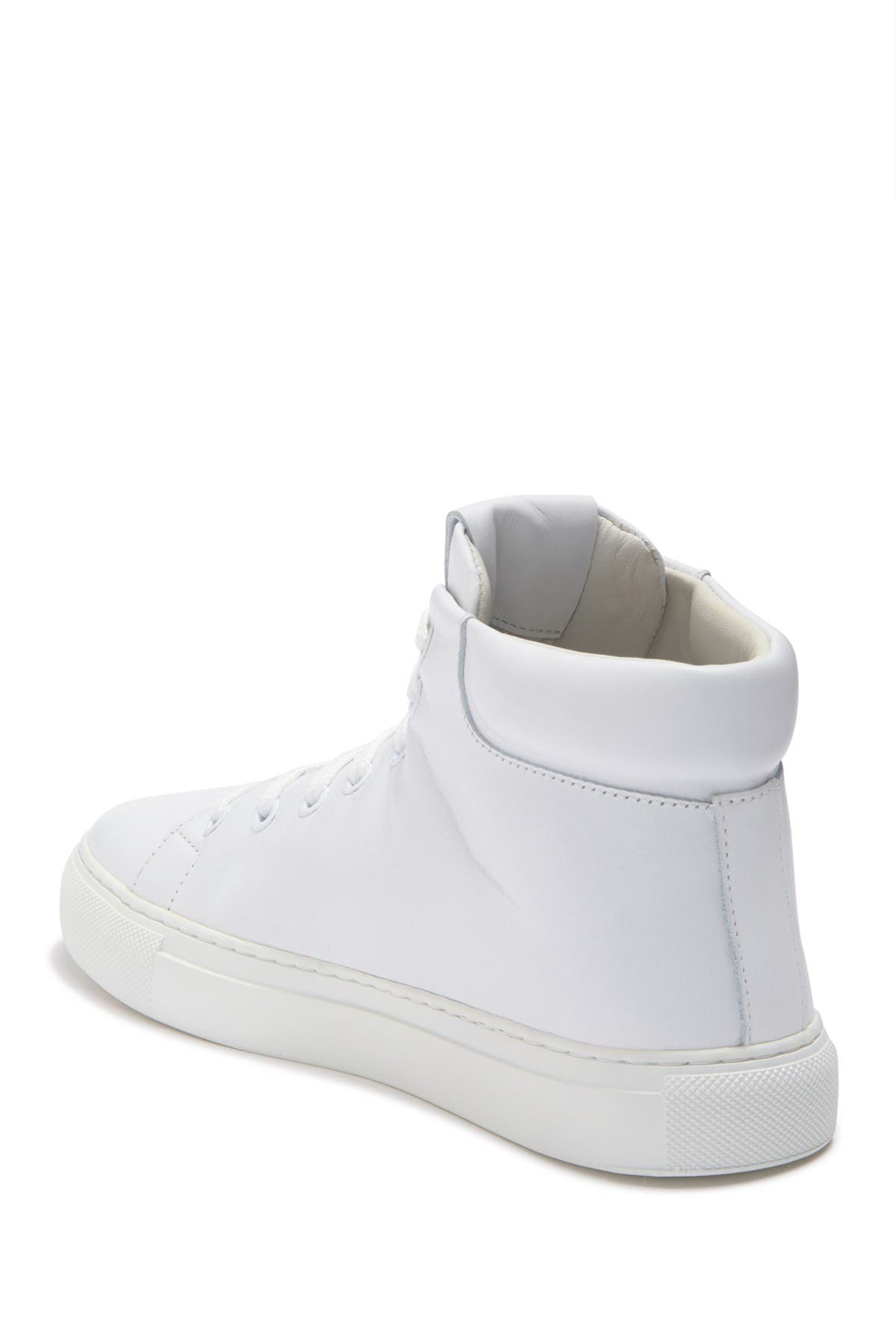 Image of MOSCHINO Logo Print High Top Sneaker
