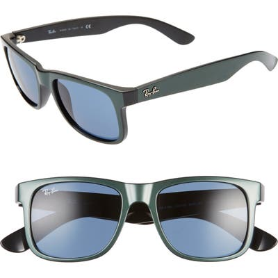 Ray-Ban Justin 51Mm Flat Top Sunglasses - Dark Green/ Dark Blue Solid