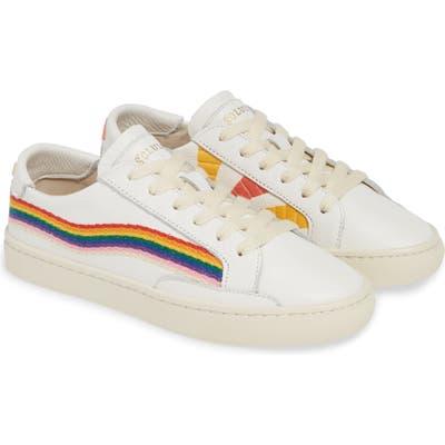 Soludos Rainbow Wave Sneaker, White