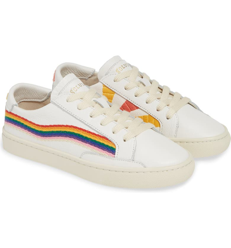 SOLUDOS Rainbow Wave Sneaker, Main, color, WHITE
