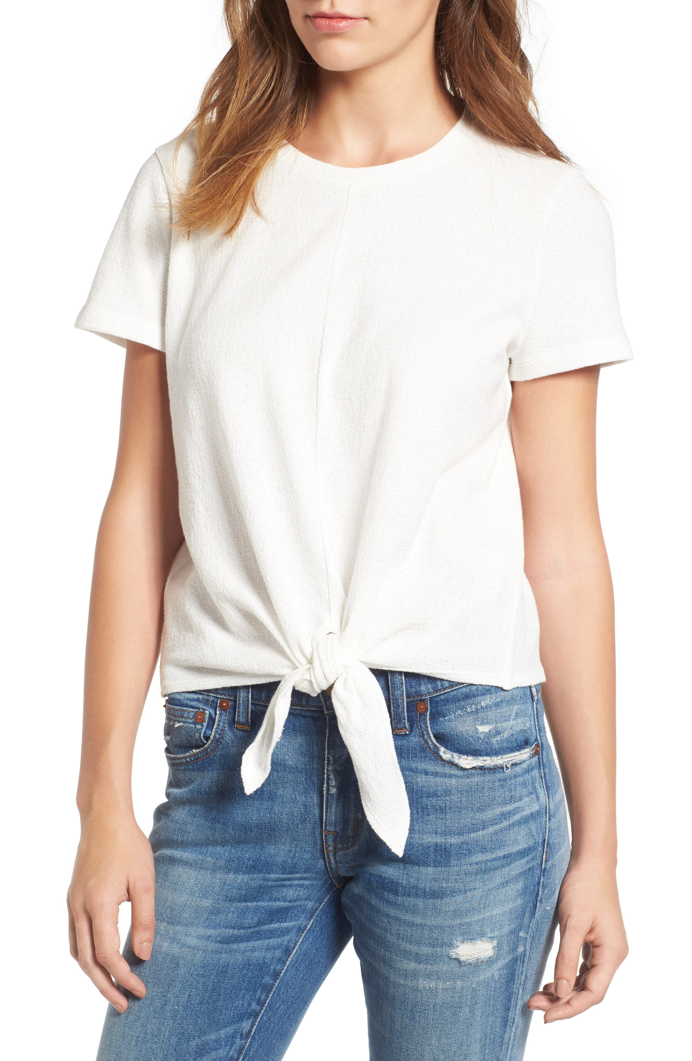 ,                             Modern Tie Front Tee,                             Main thumbnail 30, color,                             900