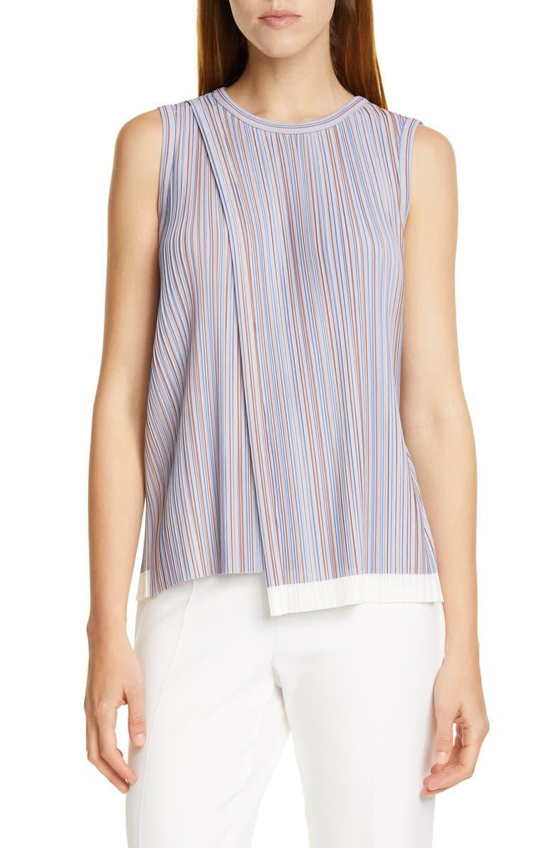 BOSS Enadin Sleeveless Stripe Top, Main, color, MOIRE STRIPE