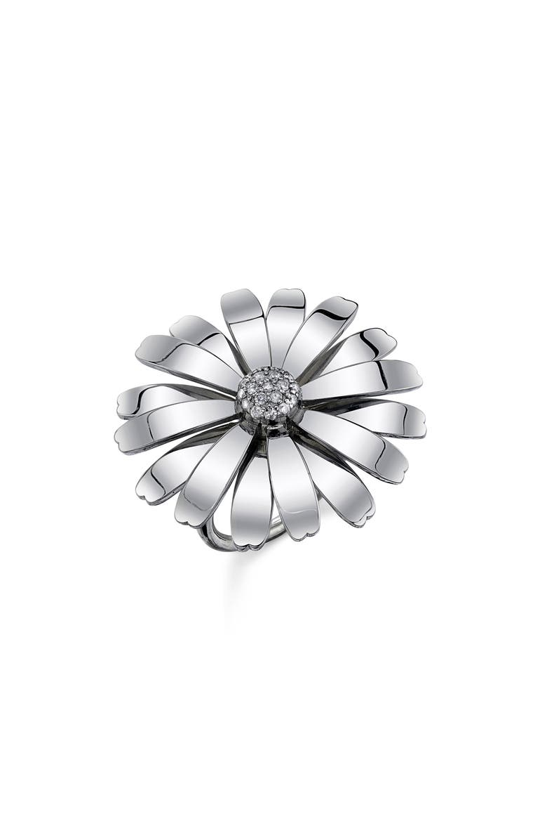 SHERYL LOWE Daisy Ring, Main, color, STERLING SILVER