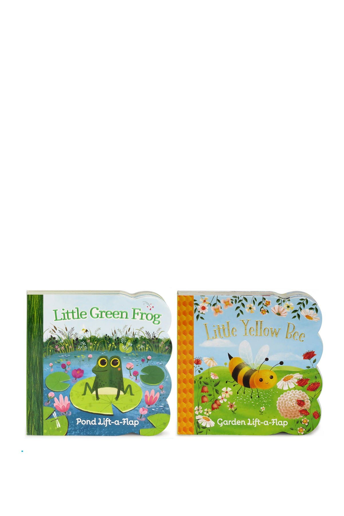 Image of COTTAGE DOOR PRESS 2-Pack: Little Yellow Bee and Little Green Frog Lift-a-Flap Books