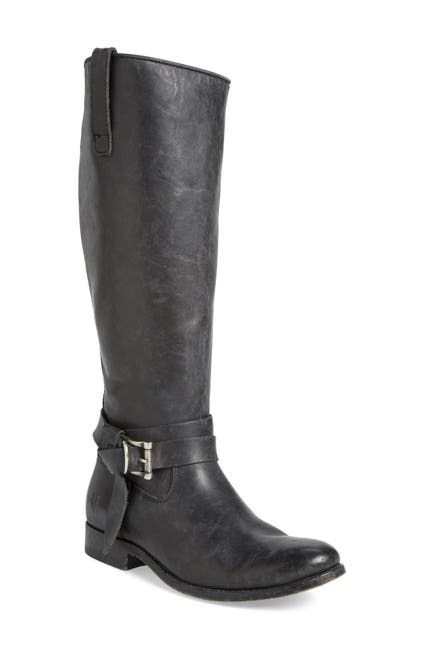 Image of Frye Melissa Leather Knotted Tall Riding Boot - Wide Calf Available