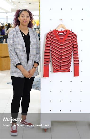 Stripe V-Neck Sweater, sales video thumbnail