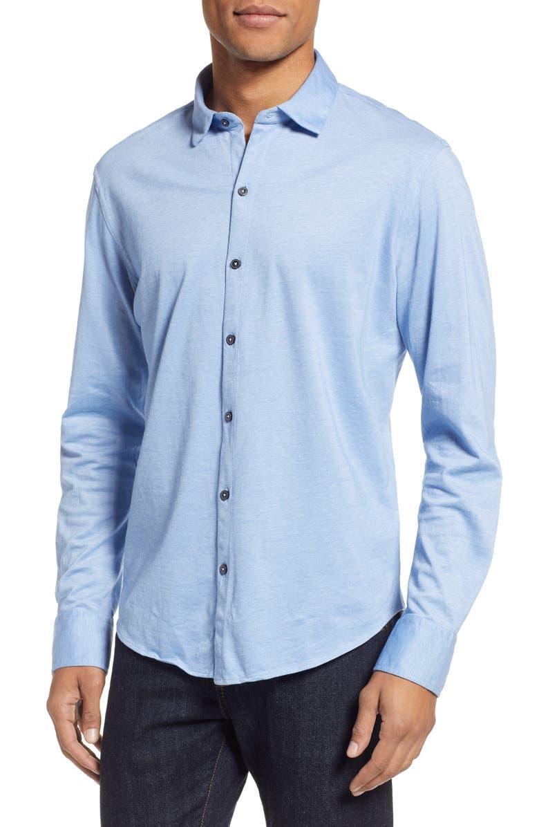 ZACHARY PRELL Raphael Regular Fit Sport Shirt, Main, color, LIGHT BLUE