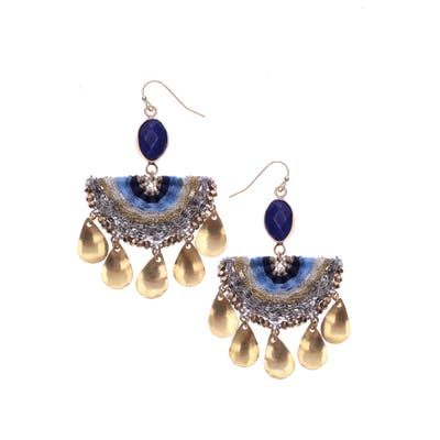 Nakamol Design Lapis Lazuli Half Moon Earrings