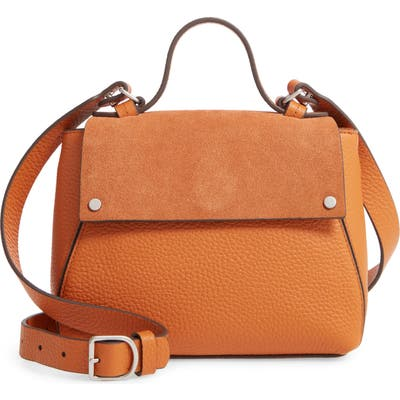 Treasure & Bond Mini Skyler Leather Satchel - Orange