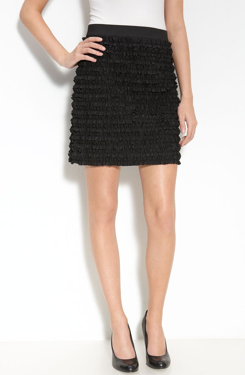 MICHAEL MICHAEL KORS Tiered Ruffle Skirt, Main, color, 001