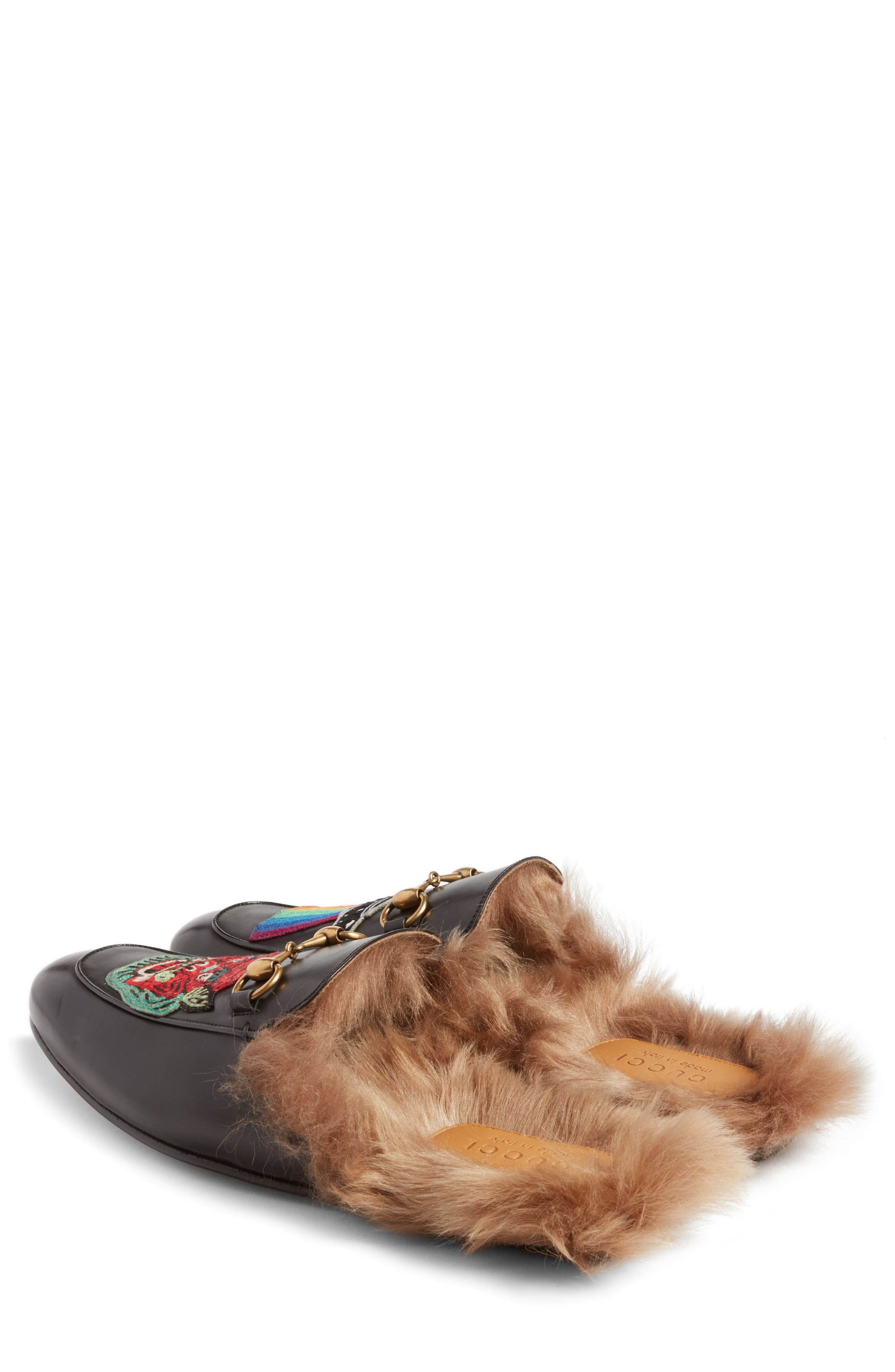 ,                             Princetown Genuine Shearling Lined Mule Loafer,                             Alternate thumbnail 13, color,                             007