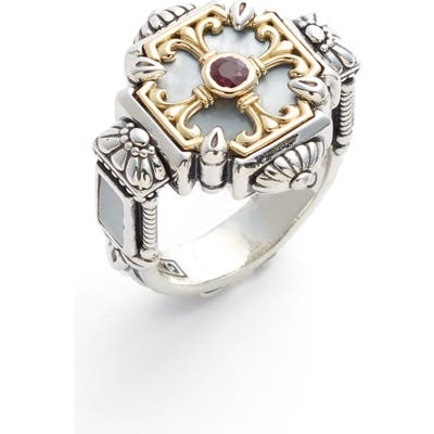 Konstantino Sterling Silver & Ruby Ring