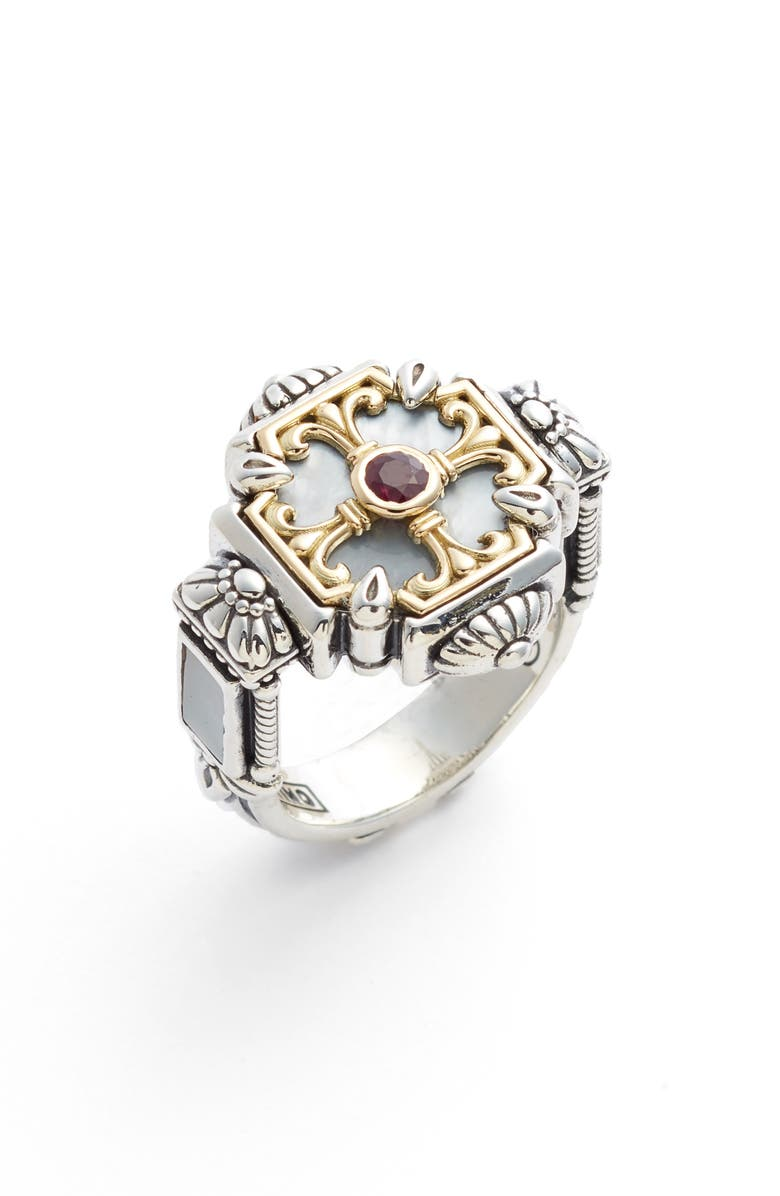 KONSTANTINO Sterling Silver & Ruby Ring, Main, color, 040