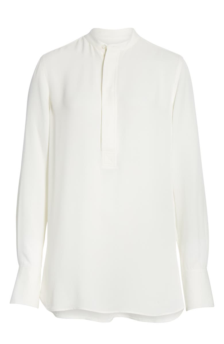 POLO RALPH LAUREN Silk Shirt, Main, color, TROPHY CREAM
