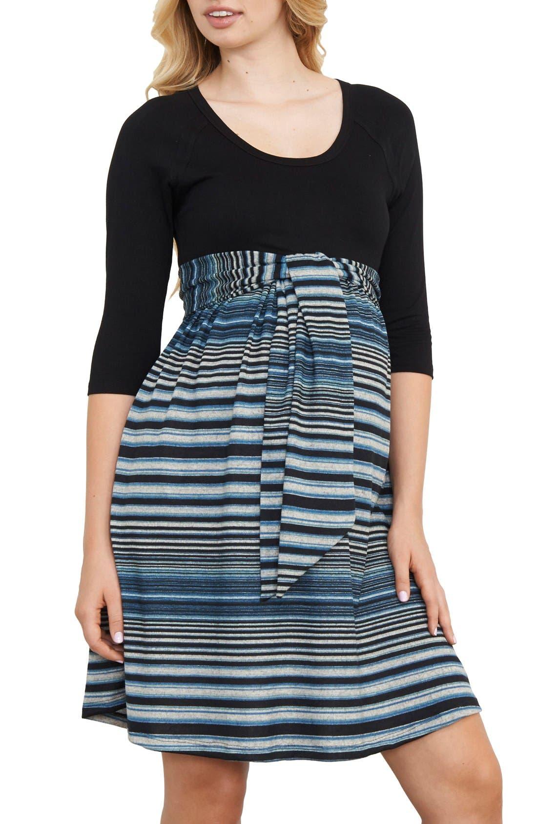 Maternal America Scoop Neck Maternity Dress