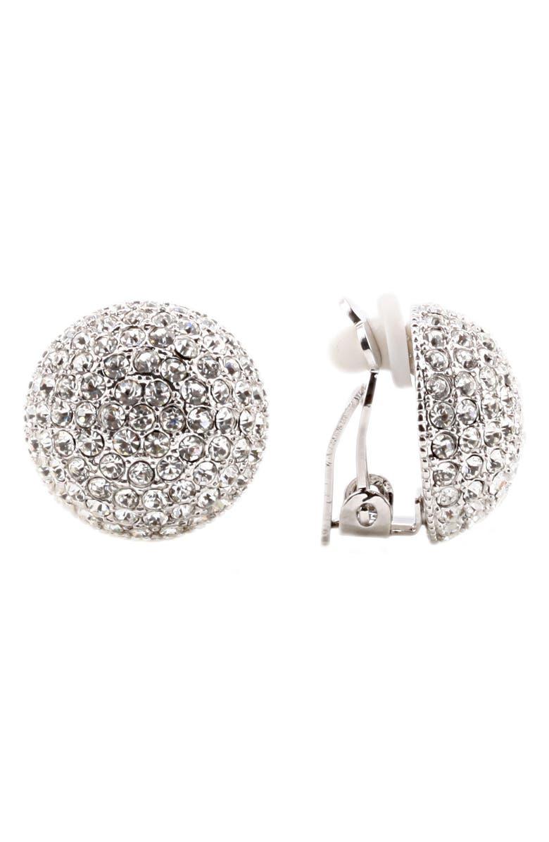 NINA Medium Pavé Button Clip Earrings, Main, color, 154