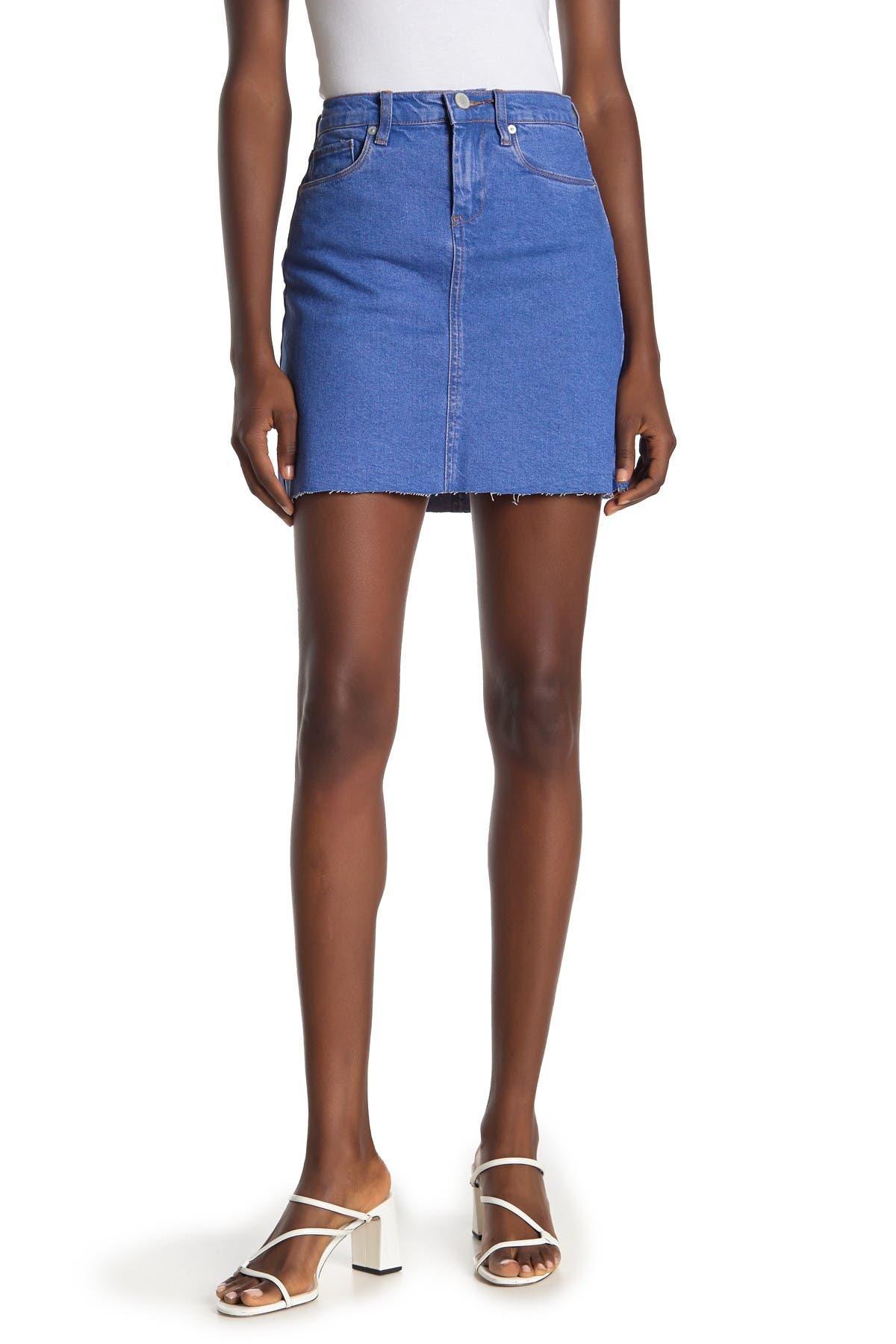 Image of BLANKNYC Denim High Rise Denim Cutoff Mini Skirt