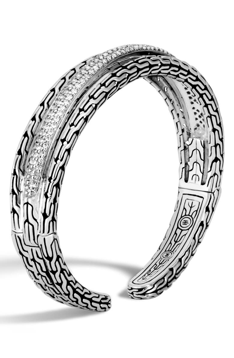 John Hardy Classic Chain Diamond Cuff