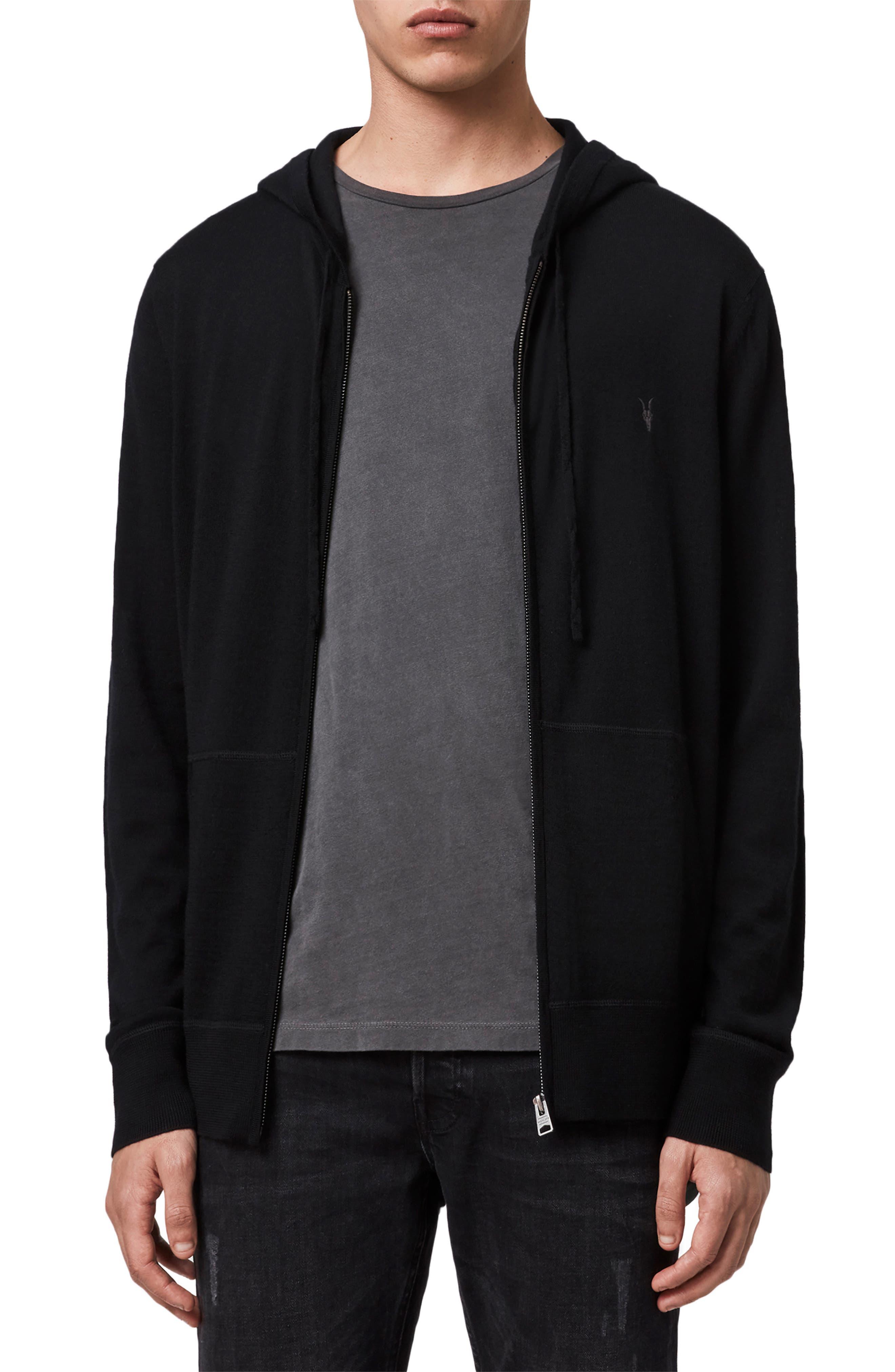 Mode Slim Fit Merino Wool Zip Hoodie
