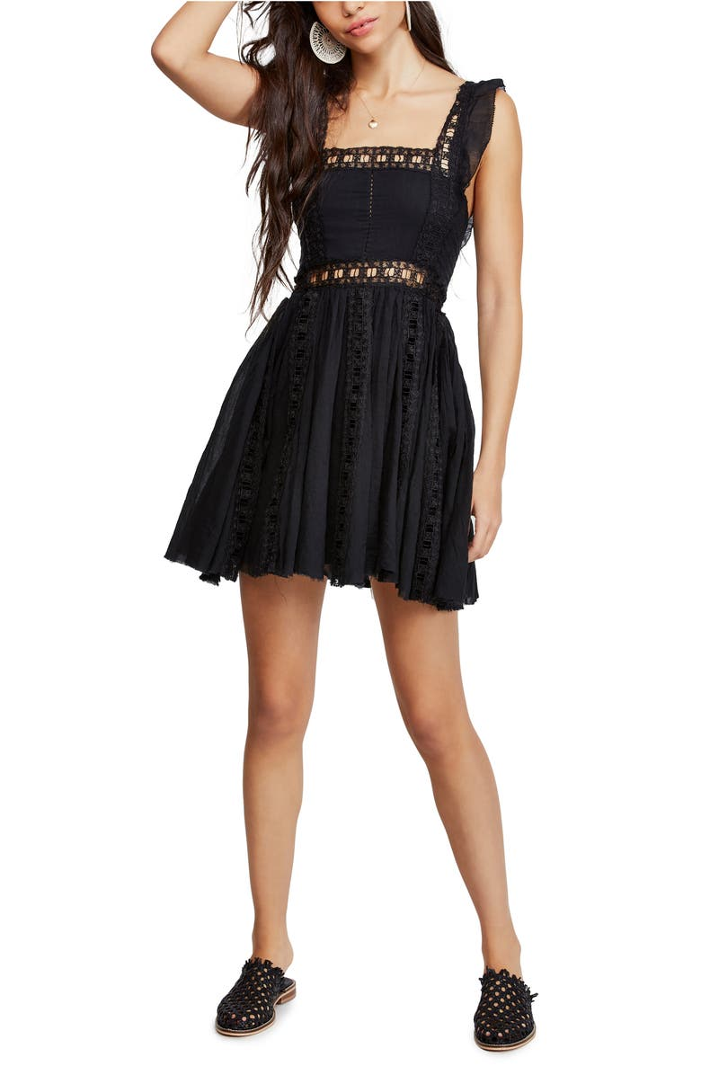 Verona Lace Trim Minidress by Free People