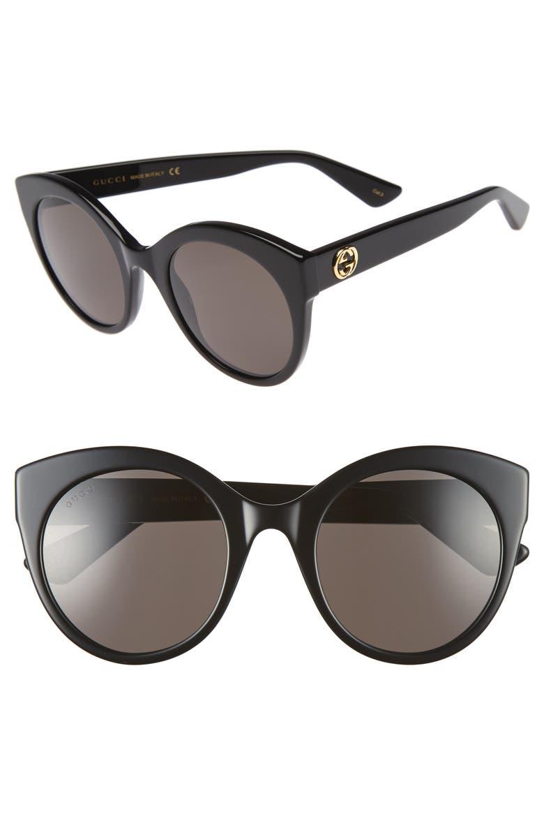 409c6973d025 52mm Cat Eye Sunglasses, Main, color, 001
