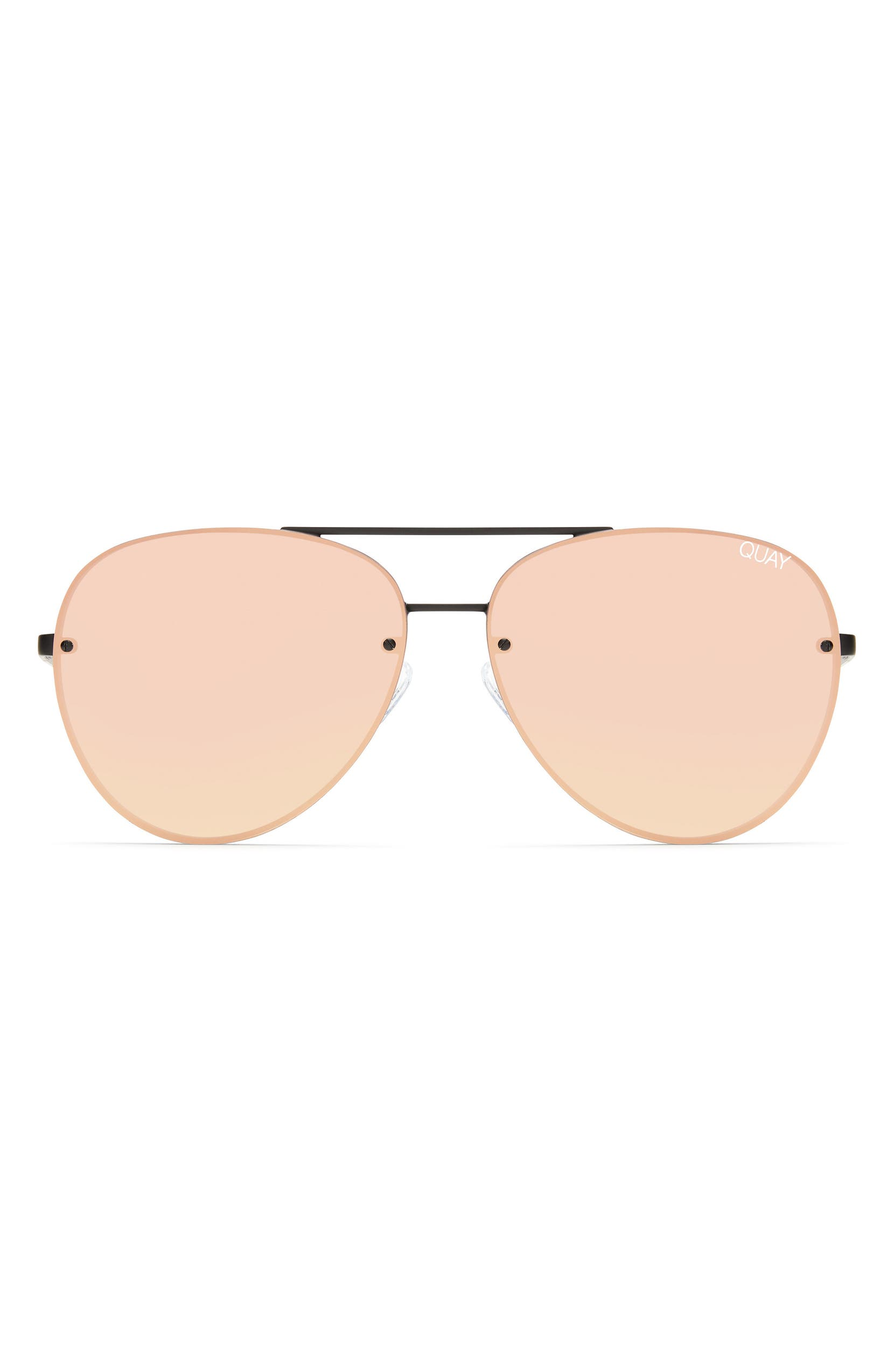 7e81f86933 Quay Australia x Missguided Cool Innit 56mm Aviator Sunglasses ...