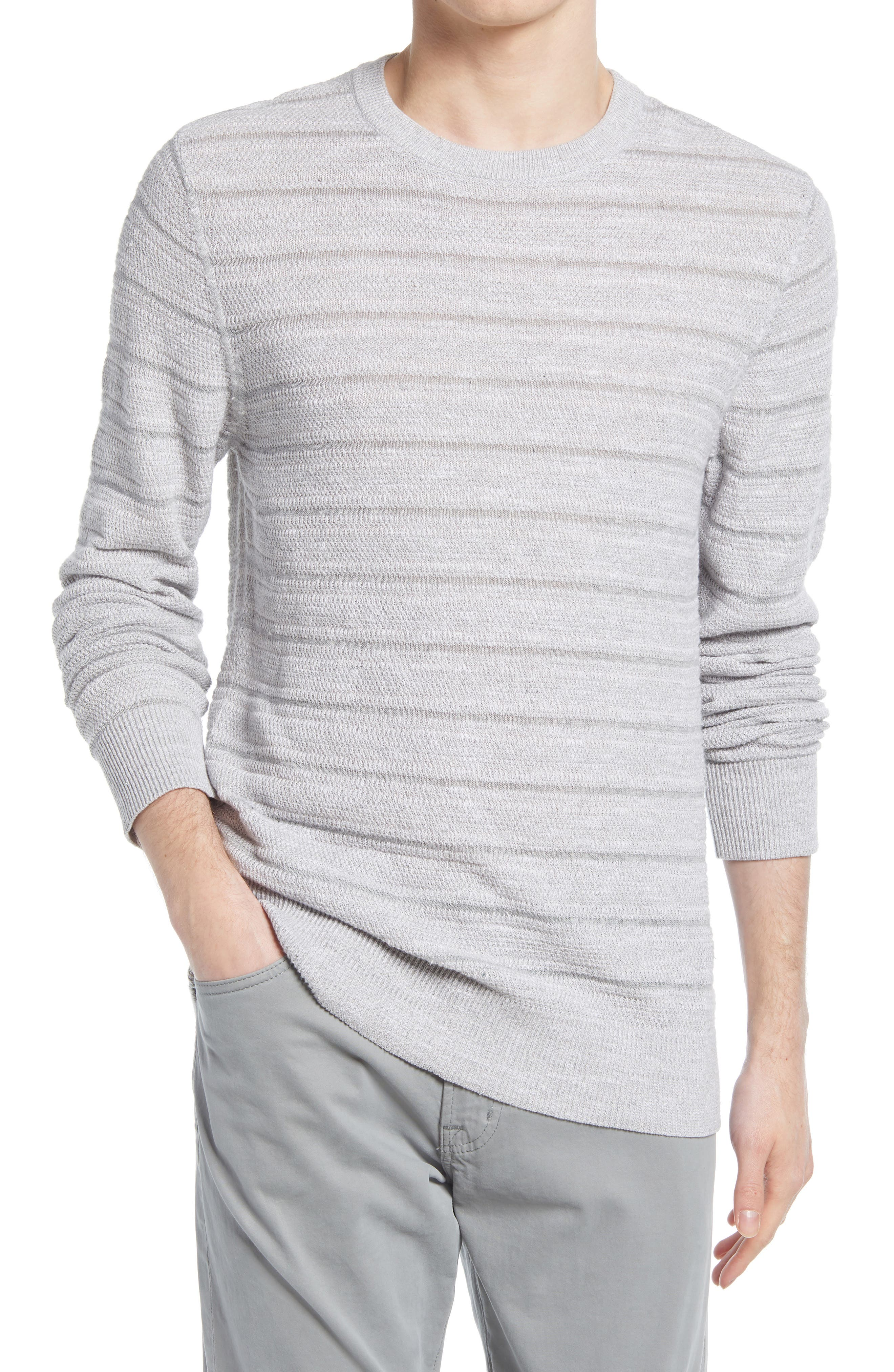 Stripe Cotton & Linen Sweater