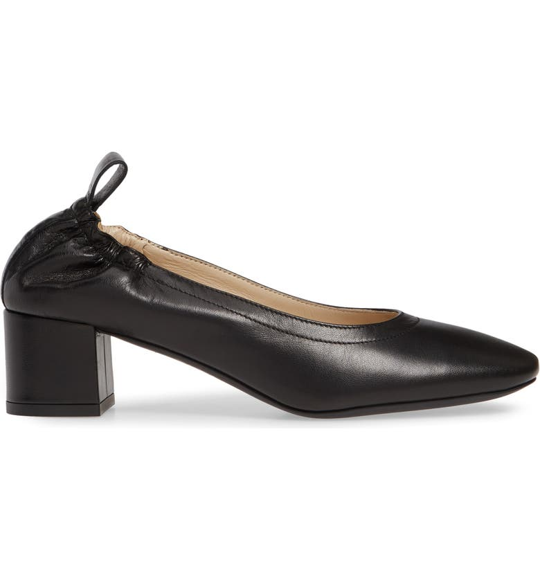 EVERLANE The Day Heel Pump, Main, color, BLACK LEATHER