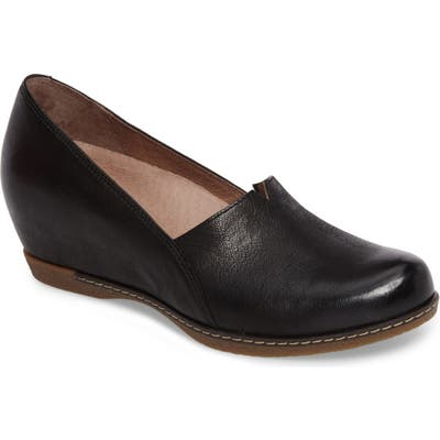 Dansko Liliana Concealed Wedge Slip-On - Black