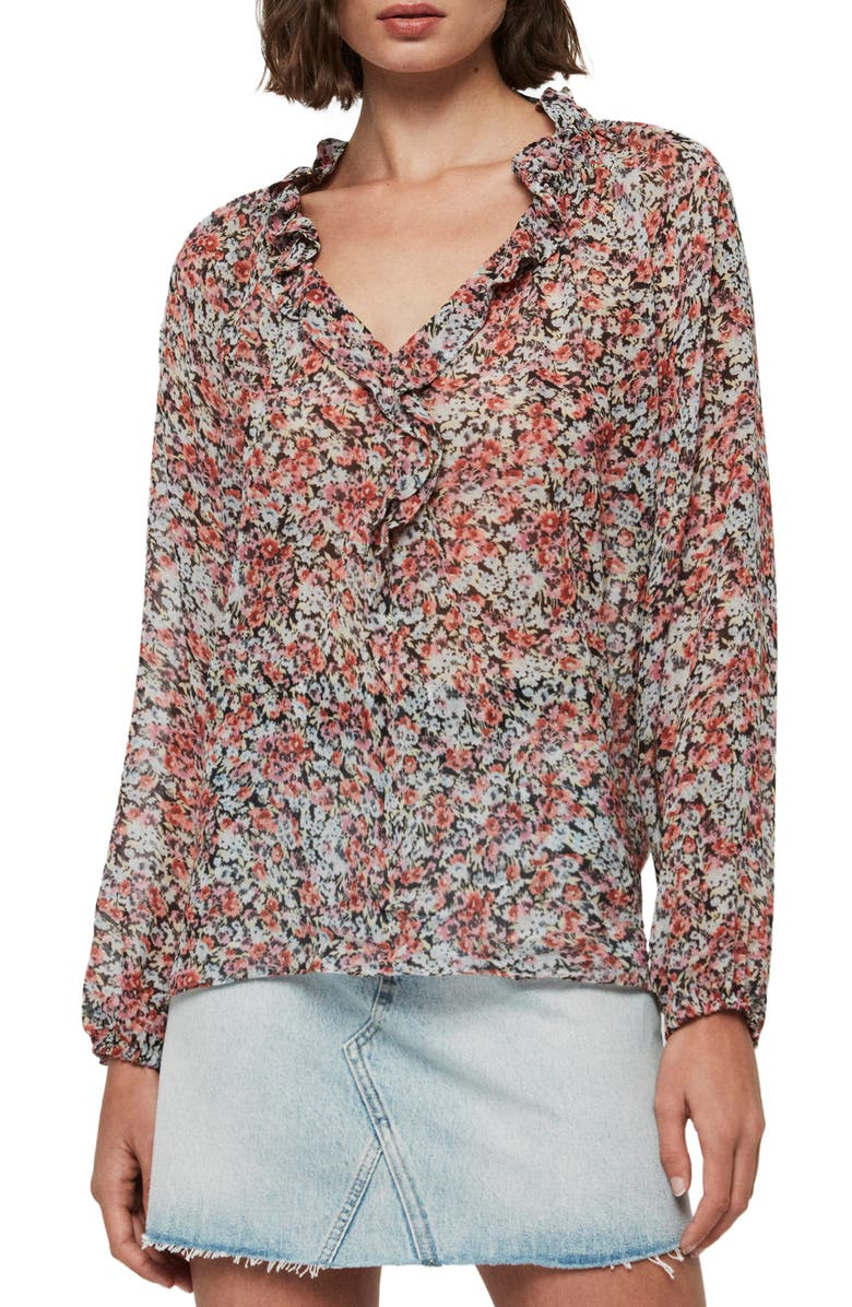 ALLSAINTS Nylah Wilde Top, Main, color, BLUE