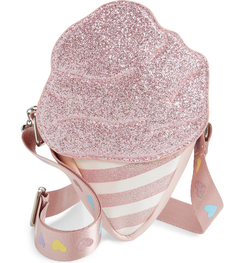 OMG Glitter Cotton Candy Crossbody Bag, Main, color, PINK